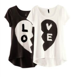 best friend shirts | shirt bff white black lo ve blouse heart best friend