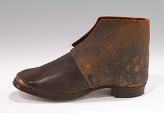 Shoes (Brogans)  /Third quarter of the 19th Century. Probably American, leather.  MET Accession Number: 2009.300.3164