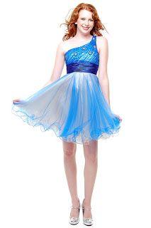Royal blue short prom dress with one shoulder 2013