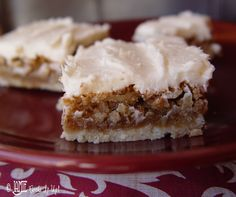 Oh my these look heavenly! Jamie Cooks It Up!: Walnut Bars with Cream Cheese Frosting