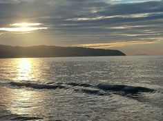 Sunset from Giannella: Porto Santo Stefano and Montecristo island #Maremma