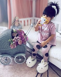 Baby Cute Girl Daughters New Ideas Fashion Kids, Little Girl Fashion, Toddler Fashion, Toddler Outfits, Kids Outfits, Baby Kind, Cute Baby Girl, Baby Love, Cute Babies