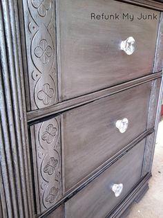 Love this color. Triple drawer lateral file in office getting this treatment on the ASAP.