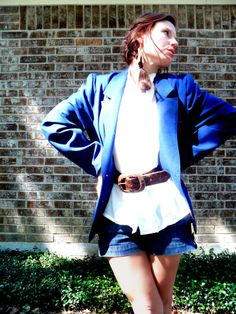 1970s poly NAVY BLAZER vintage jacket by ahippyheart on Etsy #blackfriday #vintage #fashion