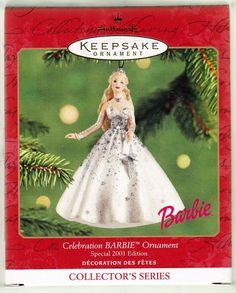 Hallmark Keepsake Ornament; Celebration Barbie. 2001.