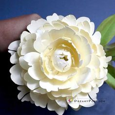 Bowl of Cream peony paper flower tutorial and svg template Paper Peonies, Paper Flowers, Coral Charm Peony, Shapes And Curves, Paper Bouquet, Paper Flower Tutorial, Flower Template, Printer Paper, Create And Craft