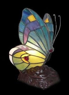 Tiffany style Butterfly Stained glass Lamp TF9009