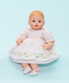 Madame Alexander Huggable Huggums® 'Pretty Pinafore' - 12 inch baby doll - Cherished Gifts