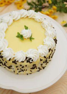 Lemon Cake Mix Cookies, Lemon Cake Mixes, Cake Mix Recipes, Sweets Recipes, Lemon Velvet Cake, Vegan Lemon Cake, Romanian Desserts, Cake Decorating For Beginners, Tree Cakes