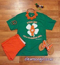 Kiss Me I'm a Clemson Girl t-shirt