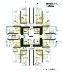 hotel floor plan design with a core- concept of immersion