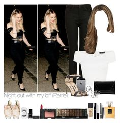 """Night out with my bff (Perrie)"" by jaynnelinsstyles ❤ liked on Polyvore featuring Topshop, Manolo Blahnik, Boohoo, MANGO, NARS Cosmetics, Chanel, MAC Cosmetics and Deborah Lippmann"