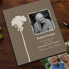 Personalized Memorial Photo Albums - This is a beautiful design and such a wonderful way to remember a loved one you've lost. PersonalizationMall has a wide selection of memorial gifts - check 'em out. #Memorial