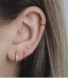 Ear Jewelry, Dainty Jewelry, Cute Jewelry, Jewellery Earrings, Jewlery, Cartier Jewelry, Sapphire Jewelry, Pretty Ear Piercings, Ear Peircings