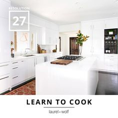 Test out those new recipes in a kitchen fit for a chef. Let Laurel & Wolf help craft a space perfect for your culinary adventures. #31Resolutions #GetYourDesignOn