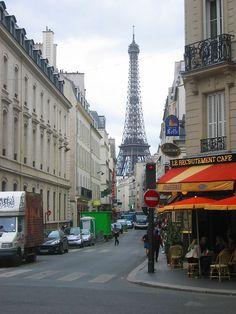 Paris, 7th arrondissement with Eiffel Tower