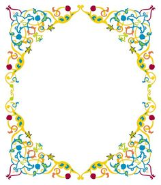Colorful Frames and Borders Borders For Paper, Borders And Frames, Borders Free, Frame Border Design, Printable Frames, Colorful Frames, Free Frames, Islamic Wallpaper, Floral Letters