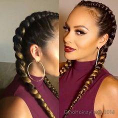 #Dutch braids  #Evelyn Lozada