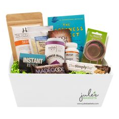 Snacks baskets 7799 by jules baskets treats snacks organic stress busting basket 13799 by jules baskets treats organic glutenfree negle Image collections