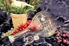 This is a lovely wheel cut crystal decanter!    Great addition to your barware!