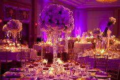 Elegant ivory and gold wedding reception Wedding Planner & Designer: Donna Kim of ThePerfectDetails.com