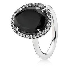 Pandora Ring - Sterling Silver, Spinel & Cubic Zirconia Glamorous... ($125) ❤ liked on Polyvore featuring jewelry, rings, cz jewellery, glamorous jewelry, pandora jewellery, sterling silver cubic zirconia jewelry and sterling silver jewelry