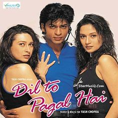 """All Bollywood Movies and Songs: """"Dil To Pagal Hai"""" is a Indian Coming of age music..."""