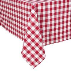KAF Home Buffalo Check Tablecloth, Red