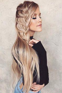 Cascading French Braid ❤ #lovehairstyles #hair #hairstyles #haircuts Date Hairstyles, Graduation Hairstyles, Holiday Hairstyles, Homecoming Hairstyles, Formal Hairstyles, Braided Hairstyles, Wedding Hairstyles, Blonde Hairstyles, Beach Hair