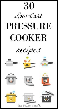 I'm always looking for more low carb pressure cooker instant pot recipes. So, I compiled a list of some of my favorites and some I can't wait to try! http://thepaleomama.com/2015/12/low-carb-pressure-cooker-instant-pot-recipes/