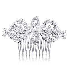 Fish Kiss Eyes Haircombs Hairpins Hairwear Wedding Fashion Jewelry Bride Rhinestone Non-nickel Silver Plated Accessories Combs