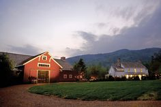 Watching the sunset over this barn and mountain range will never get old!   Blackberry Farms in Walland, Tennessee   Southern Living Handpicked Hotels