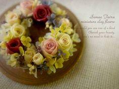 1♡ ♡ POR SANAE TAIRA Mini Plants, Miniature Gardens, Polymer Clay, Craft Projects, Blog, Minis, Artist, Wreaths, Desserts