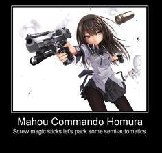 Mahou Commando Homura by Andarion.deviantart.com on @DeviantArt