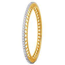 Single line diamond bangles designs