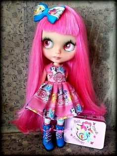 Blythe ✿✿✿ Love this Shepuppy pink girl
