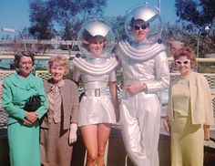 The Vault of Retro Sci-Fi — vintagegal:   Disneyland, 1961 Space Costumes, Sci Fi Costumes, Space Outfit, Space Fashion, Vintage Space, Vintage Photos, Space Girl, Halloween Inspo, Halloween Stuff