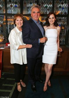 Viewer favourites:Penelope Wilton, Jim Carter and Michelle Dockery joined forces at the p...