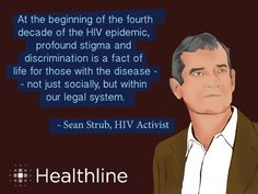 At the beginning of the fpurth decade of the HIV epidemic, profound stigma and discrimination is a fact of life for those with desease - not just socially, but within our legal system. -Sean Slrub #respectaids #zerodiscrimination