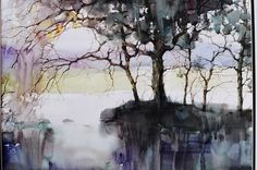 Z L Feng Landscape Paintings, Art Photography, Artist At Work, Watercolor, Painter, Painting, Watercolor Landscape, Abstract, Landscape Art