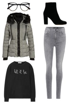 """""""Untitled #344"""" by xolafkax on Polyvore featuring Lingua Franca, J Brand and GUESS"""