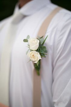 boutonniere + suspenders - Romantic Costa Rica Wedding by Katherine Stinnett Photography - via ruffled