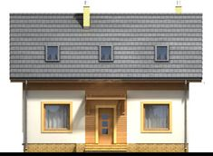 DOM.PL™ - Projekt domu ARN CYNAMON CE - DOM RS1-29 - gotowy koszt budowy Design Case, Traditional House, Garage Doors, New Homes, House Styles, Outdoor Decor, Home Decor, Diana, Houses
