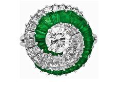 Spirale di diamanti&smeraldi....Cartier