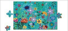 Crazy #puzzle #flowery garden 30 pieces by #Djeco from www.kidsdinge.com -- love this!