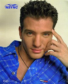 JC Chasez (*Nsync)- I used to have the biggest crush on this guy, especially with this photo!