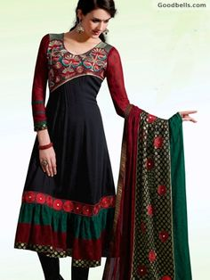 Stylish Black Salwar Kameez with Designer Dupatta can be purchased in just $120.00. Click here to buy: http://goodbells.com/salwar-suits/stylish-black-salwar-kameez-with-designer-dupatta.html?utm_source=pinterest_medium=link_campaign=pin16juneR9P246