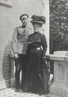 "Grand Duke Konstantin Konstantinovich Romanov of Russia and Grand Duchess Elizaveta Mavrikievna Romanova of Russia circa 1915. ""AL"""