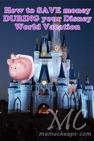 Disney on the Cheap...some great ideas on saving money at Disneyworld.  Read the comments too!  More great ideas there!