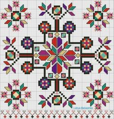 Discover thousands of images about Motif Folk Embroidery, Embroidery Patterns Free, Cross Stitch Embroidery, Embroidery Designs, Cross Stitch Borders, Cross Stitch Designs, Cross Stitching, Cross Stitch Patterns, Mochila Crochet